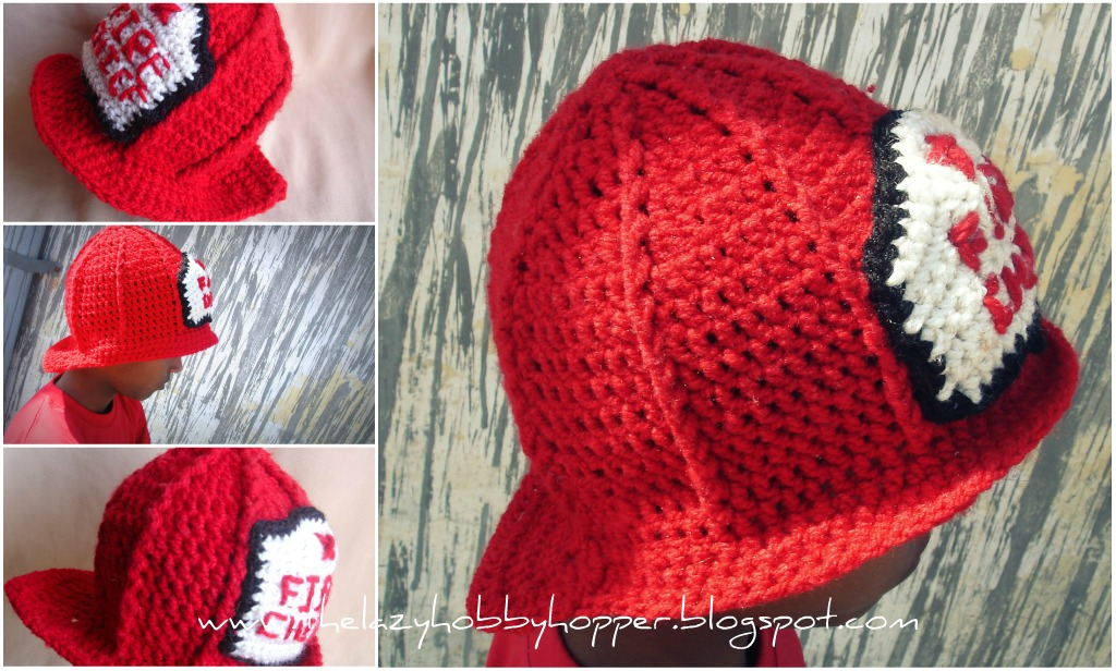 Crochet Pattern Helmet Hat : The Lazy Hobbyhopper: Crochet Fireman Hat