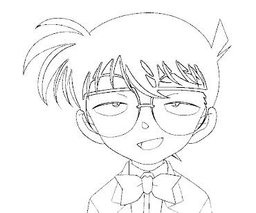 #7 Detective Conan Coloring Page