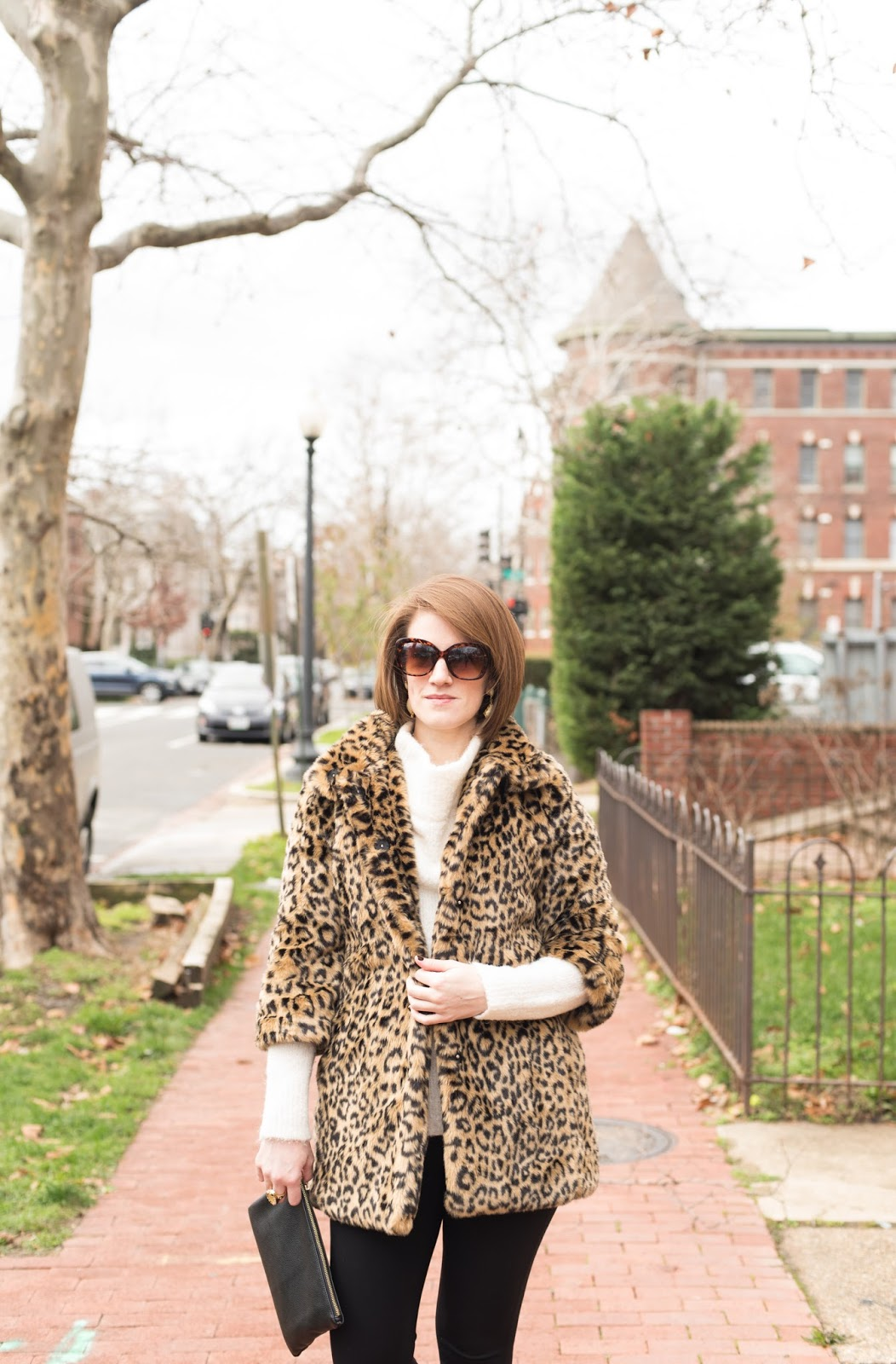 leopard print coat - faux fur coat - leopard faux fur coat