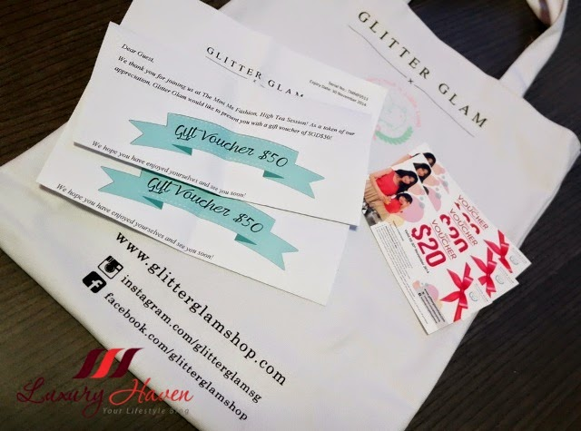 glitter glam shopping vouchers