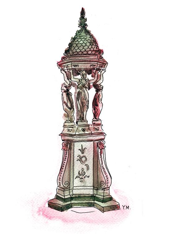 Wallace fontaine by Yukié Matsushita