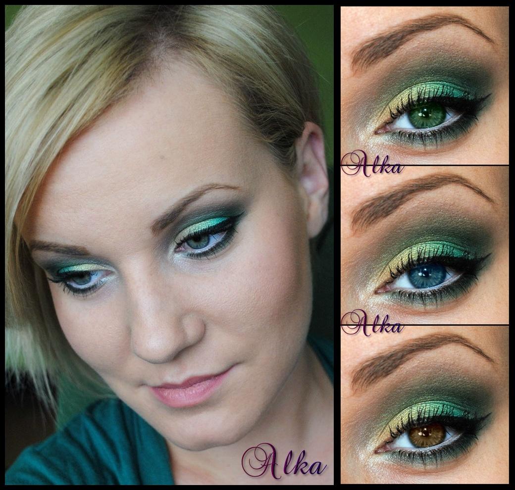 Alka Make Up Cytrynowo Zielony Makijaż