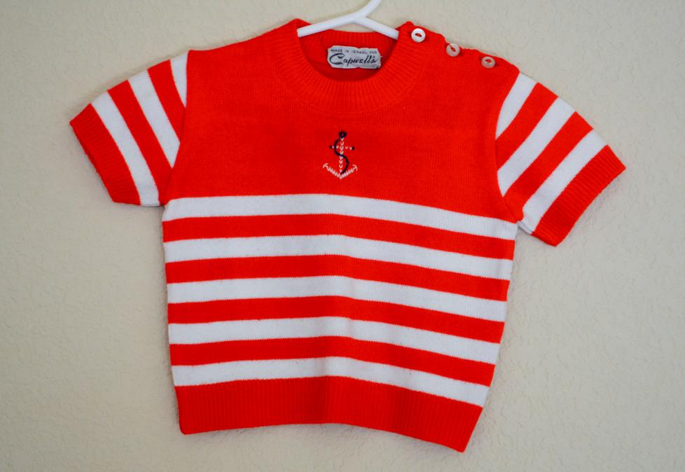 little girl's vintage sweater #vintage #childrens #fashion