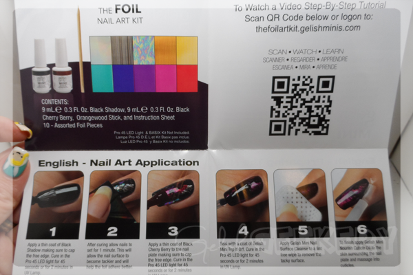 Gelish Foil Nail Art Kit Review