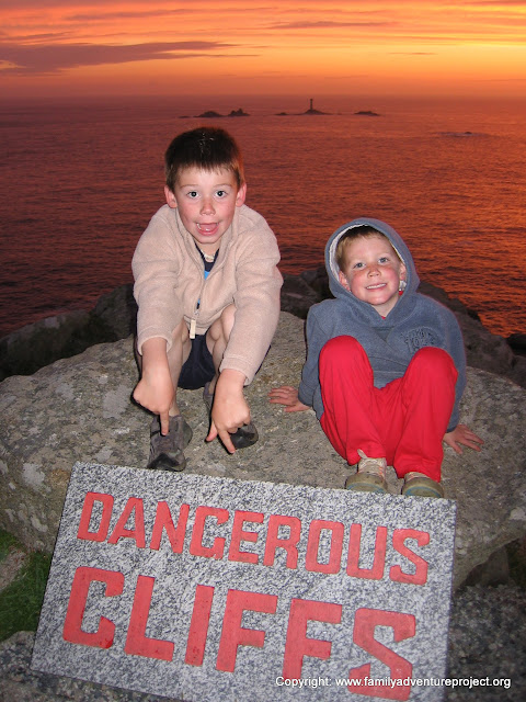 Danger Cliffs Lands End