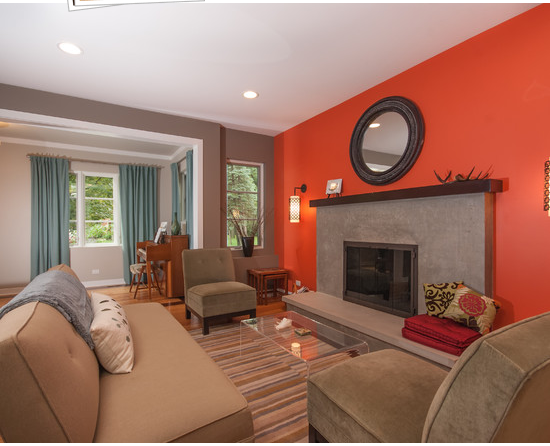 living room paint color ideas orange combinations orange living room