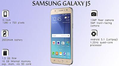 Harga Samsung Galaxy J5 Dengan Spesifikasi