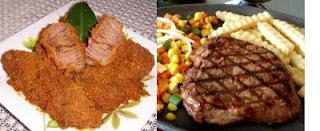 Rendang vs Beef Steak