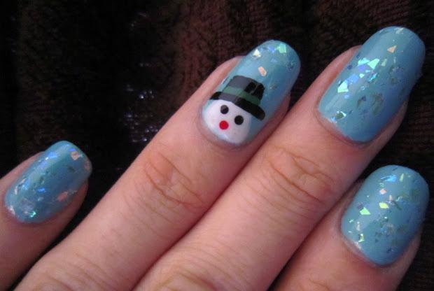 concrete and nail polish snowman