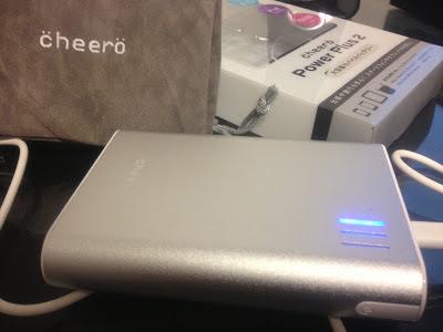cheero power plus2を購入。iPhoneの充電が楽勝!!