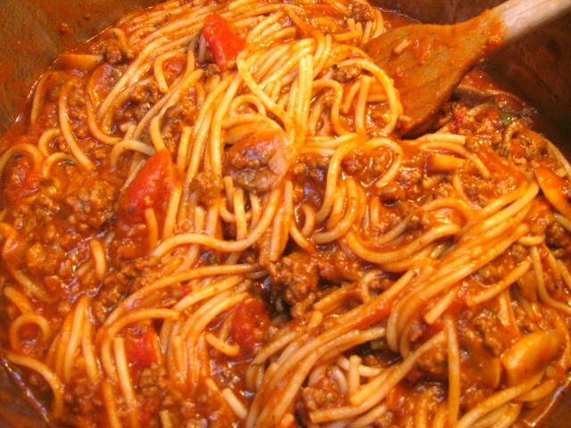 THE SPUNKY COOKIE: SPAGHETTI MEAT SAUCE