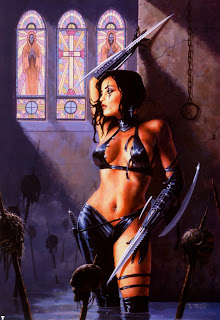 Dorian Cleavenger Cathedral Sexy Girl Dark Gothic Wallpaper