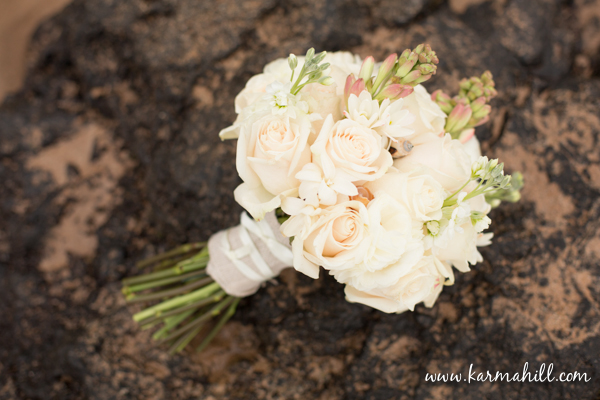 Maui wedding floral white roses and tuberose