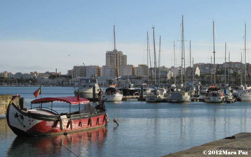 Boats on the Arade River, Portimao