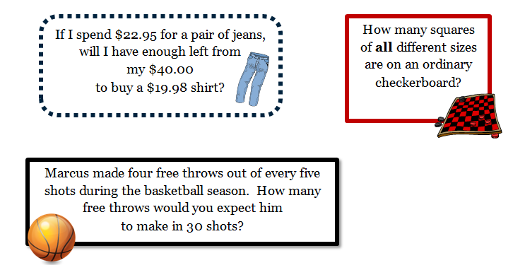 Stories With Pictures For Words Story or Word Problem And