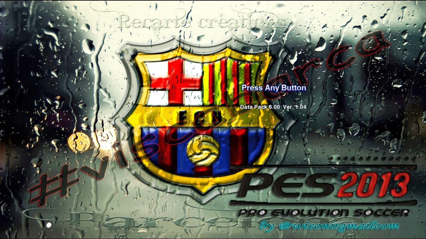 PES 2013 FC Barcelona Start Screen by No Doong