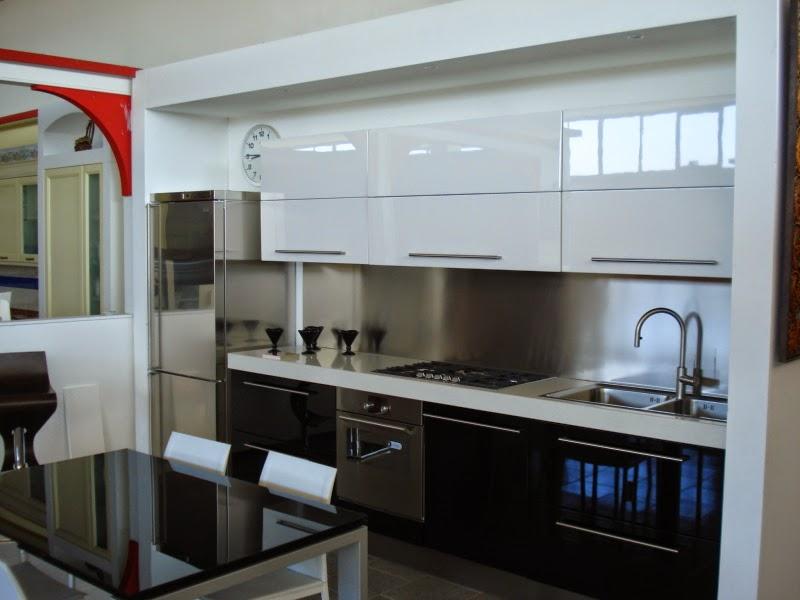 Dise os de cocinas en negro y blanco colores en casa - Cocina en blanco y negro ...