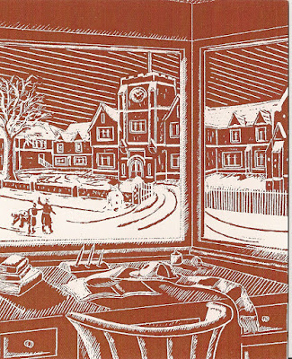 Christmas card from King's School, Peterborough, 1949