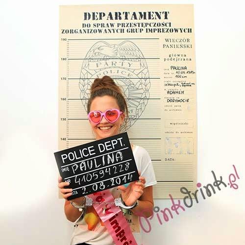 Zawsze chciałyście mieć własne, niegrzeczne zdjęcie z aresztowania? Teraz to możliwe a Wasz wieczór panieński będzie niezapomniany! ;)