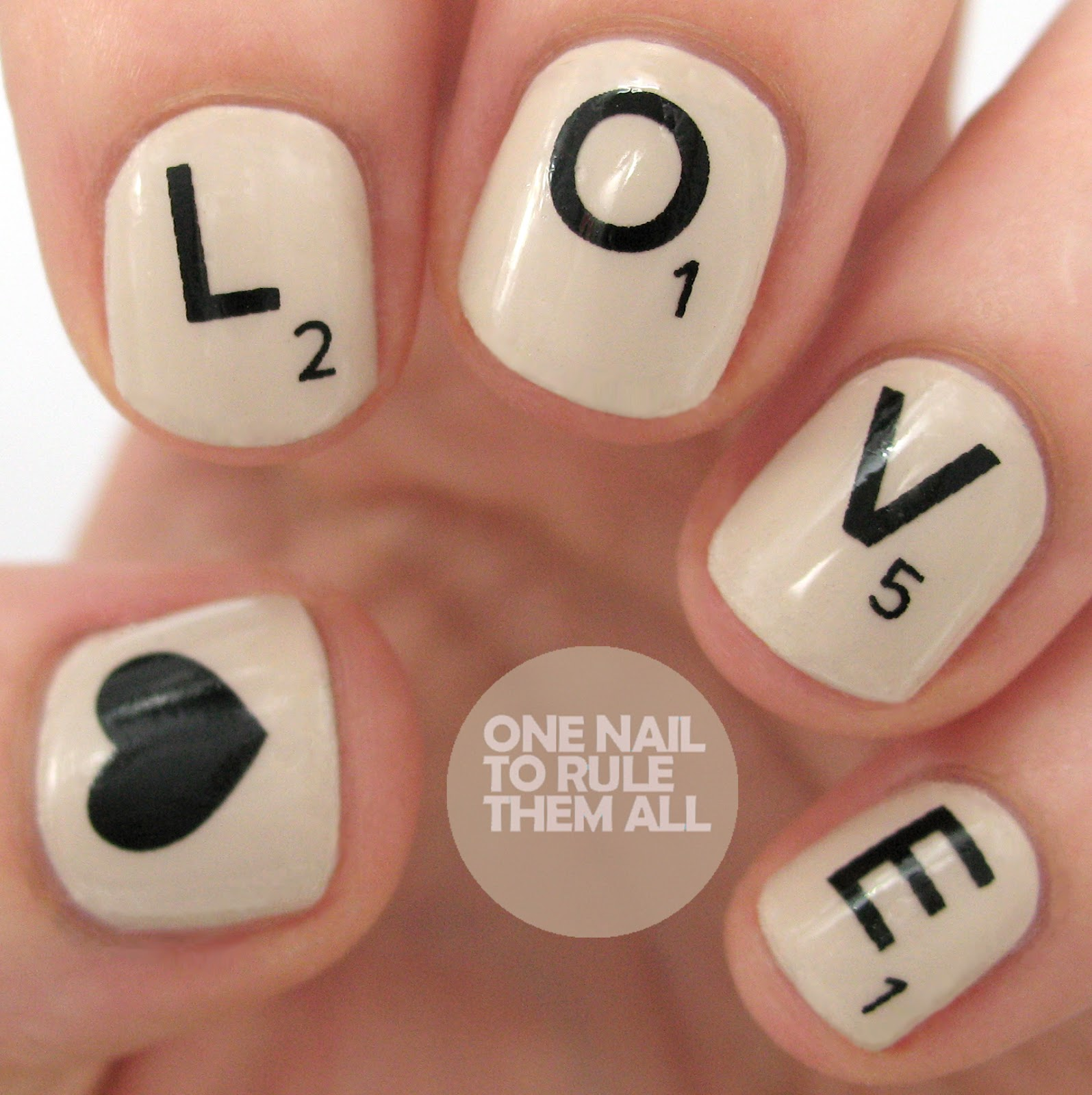 One Nail To Rule Them All: Then and Now: Scrabble Love Nails