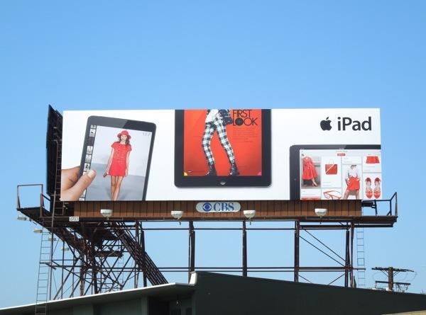 iPad first look fashion billboard ad