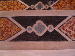 détail des fresques de l'église d'Aullène en Alta Rocca
