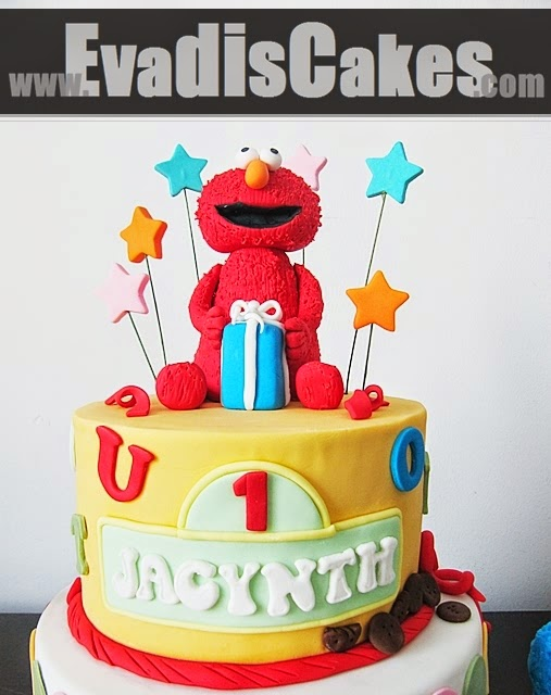 Elmo On Top Picture For Sesame Street Theme Cake