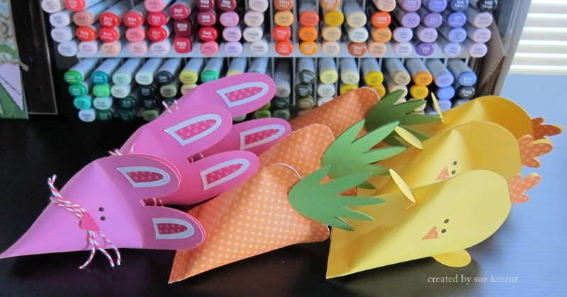 Sue's Stamping Stuff: Jammie Day Saturday-Easter Treat Holders