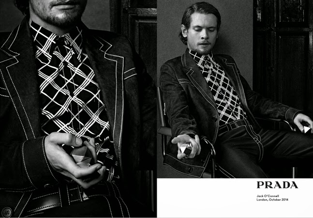 Craig McDean, Hollywood, luxury, Men, menswear, moda hombre, moda masculina, Prada, Spring 2015, spring summer, style, Suits and Shirts, Ansel Elfort, Ethan Hawke, Miles Teller, Jack O'Connell,