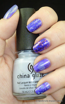Enchanted Polish Awesomeness with China Glaze Agent Lavender stamping
