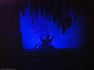 Little Mermaid Adventure ride DCA Disney Ursula cutout mini