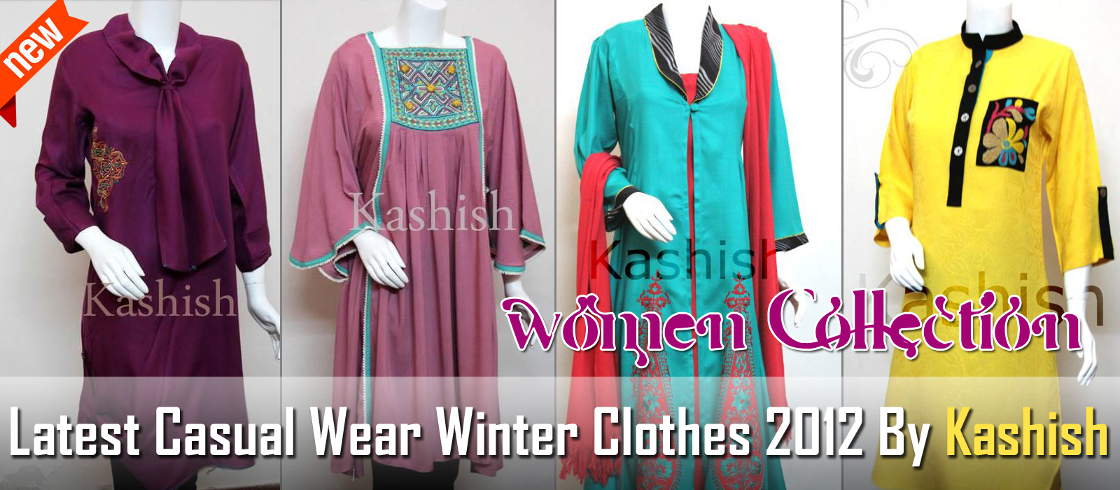 Latest casual wear dresses 2012 by kashish casual winter collection