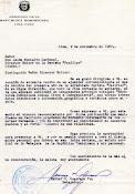 Carta de la Embajada de República Dominicana