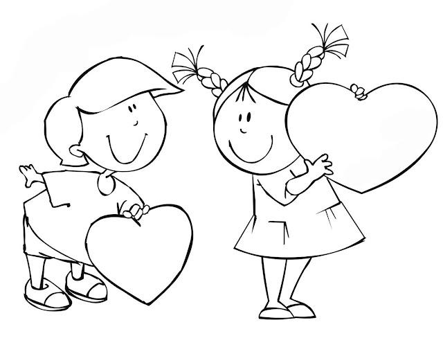 раскраска любовь день святого валентина