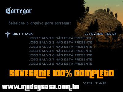 Savegame Completo para GTA San Andreas para GTA San Andreas