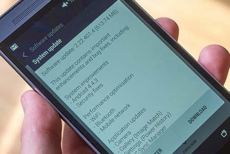 HTC One M8 Android 4.3.3 Güncellemesi