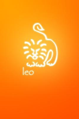 Caricatura con Fondo Naranja - leo