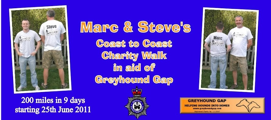Marc & Steve's Charity coast to coast walk