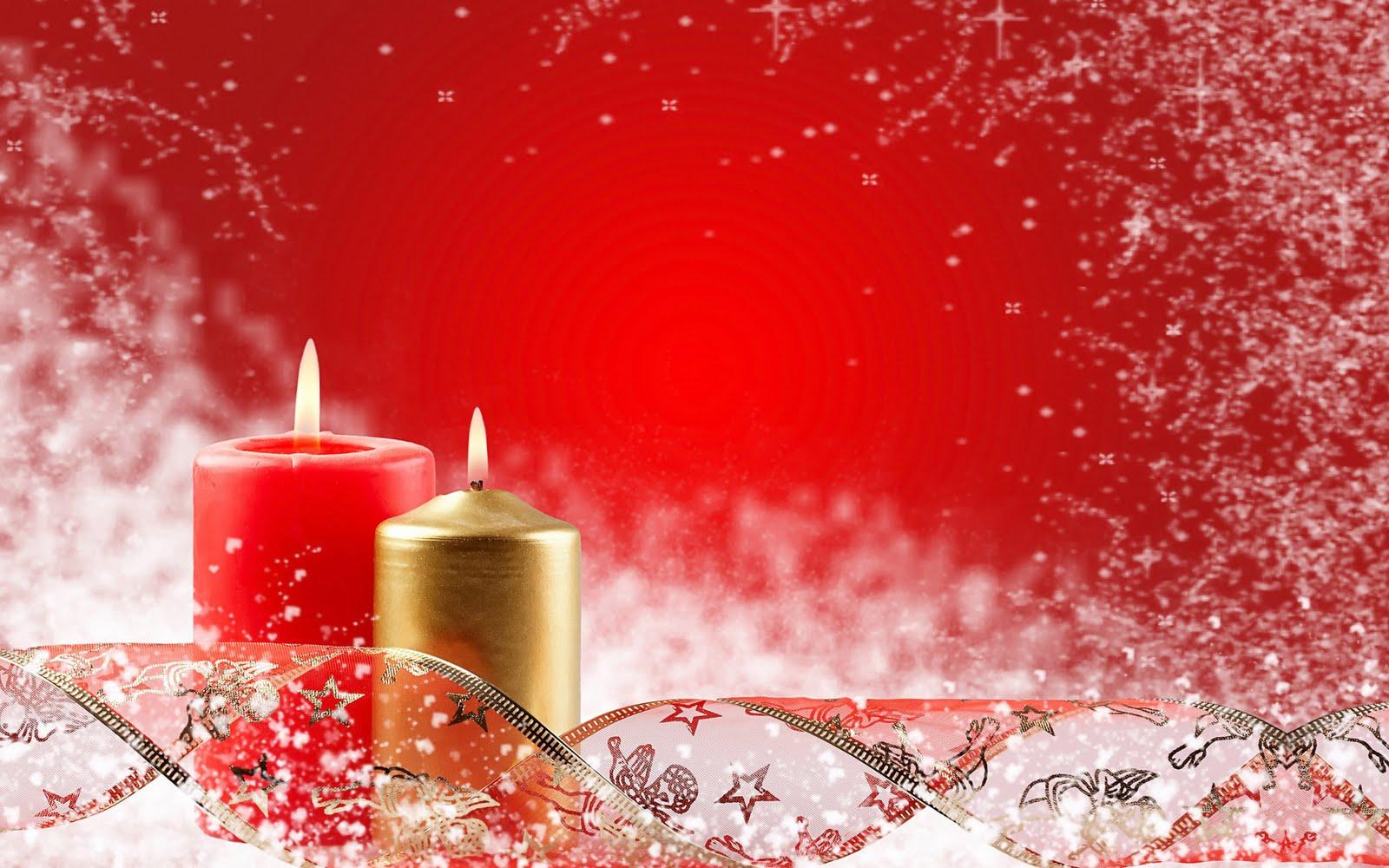 Imagem De Fundo Velas Natal Em Tons Vermelhos