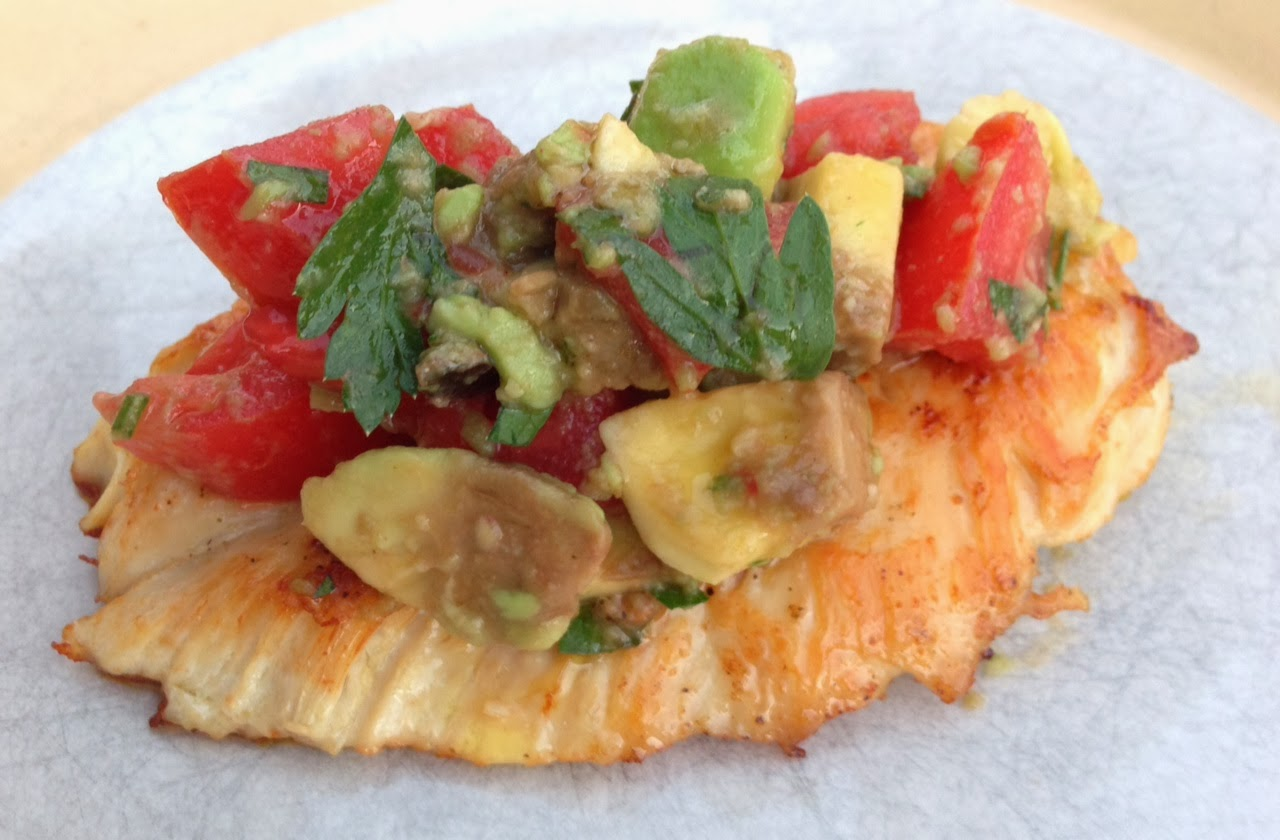 Food Hunter's Guide to Cuisine: Tomato & Avocado Topped ...
