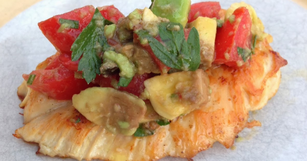 ... to Cuisine: Tomato & Avocado Topped Chicken; A Healthy Meal for One