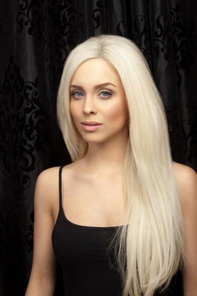 přeliv na vlasy blond