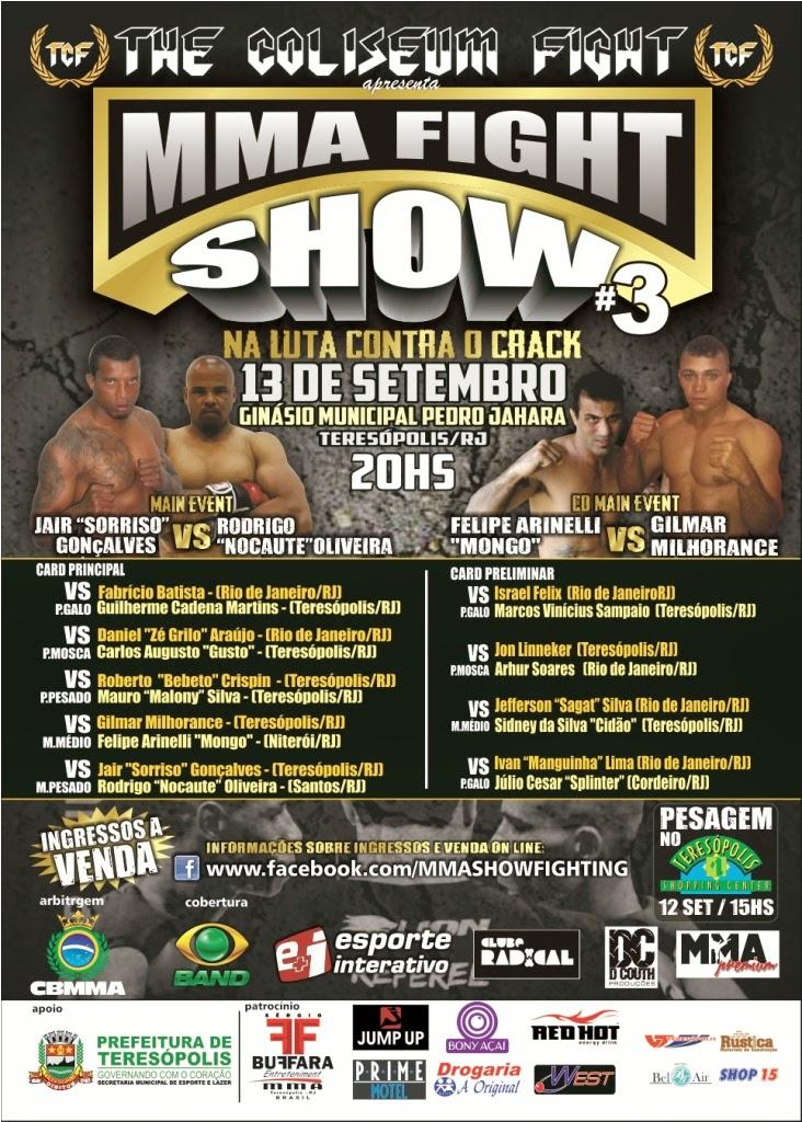 MMA Fight Show retorna a Teresópolis para 3º edição