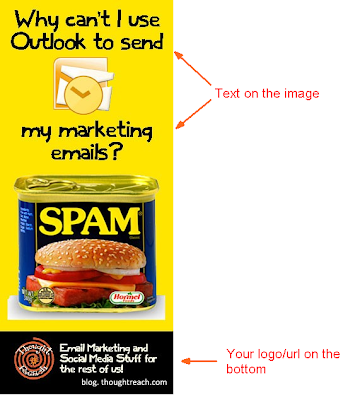 Post an image on Pinterest that has text on it that entices the user to click through