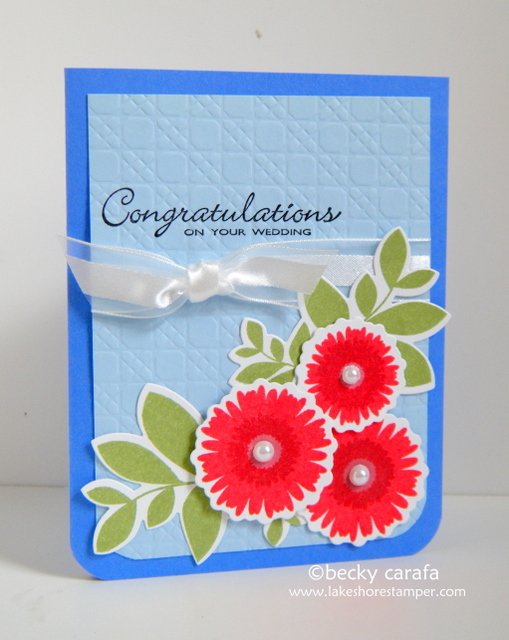 fun chance to make a nontraditional wedding card The color scheme for the