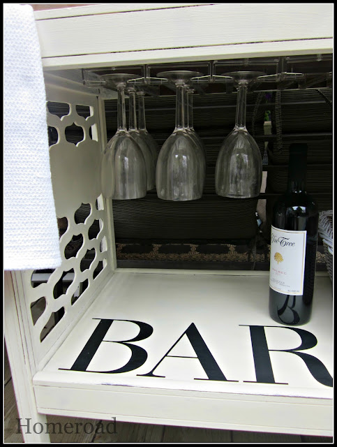 DIY repurposed bar cart www.homeroad.net