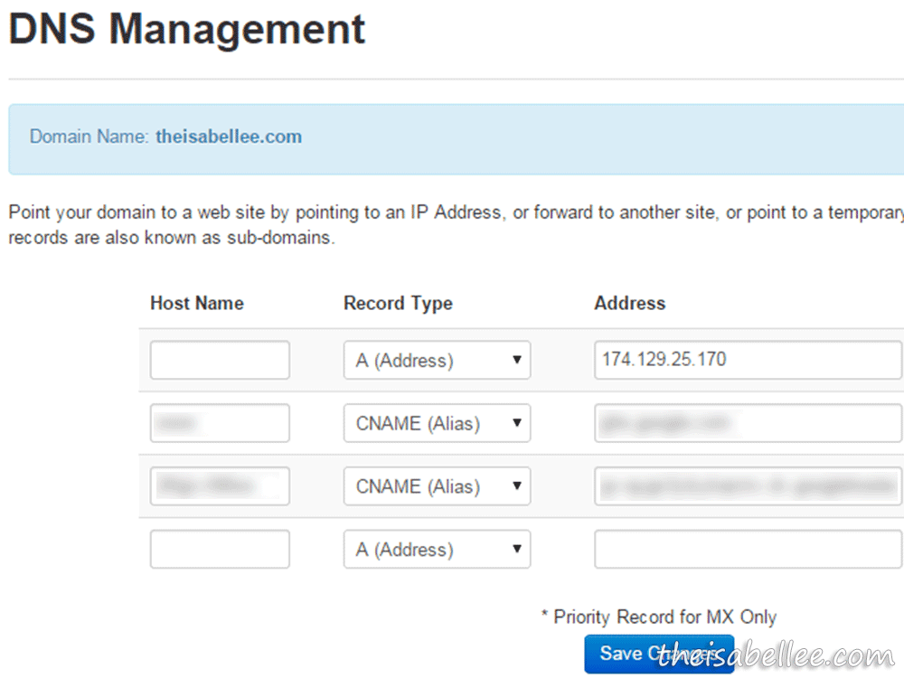 Exabytes DNS Management to redirect naked domain