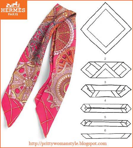 квадратен шал сгъване