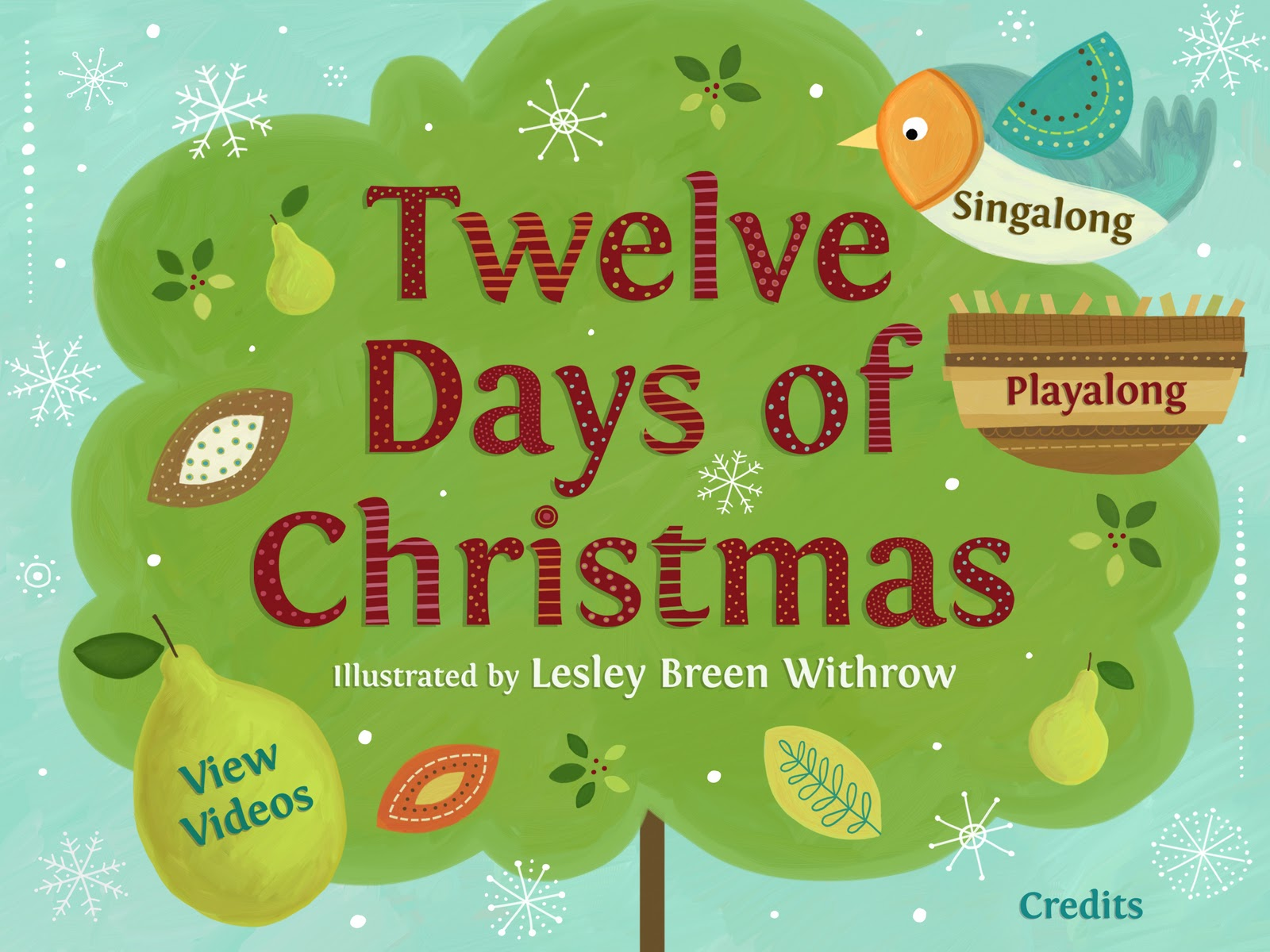lesley breen withrow 12 days of christmas childrens book app published by polk street press aka my first childrens book app - 12 Days Of Christmas Book