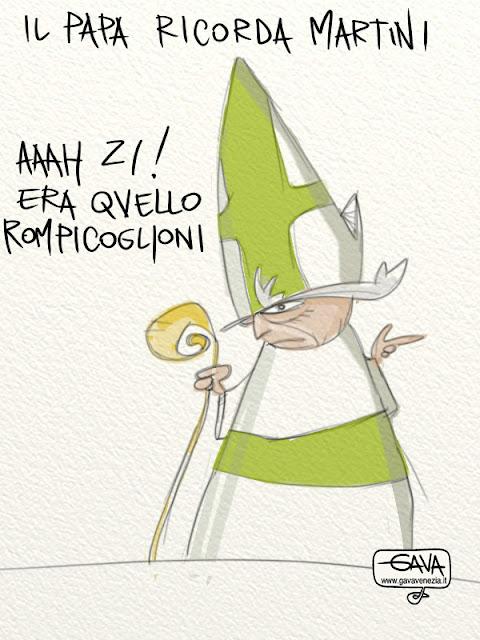 Gava satira vignette Papa ricorda il cardinale